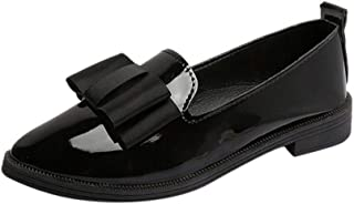 NEEKEY Flats Shoes Women Comfortable Pointy Toe, Casual And Comfortable Non-Slip Patent Leather Flats