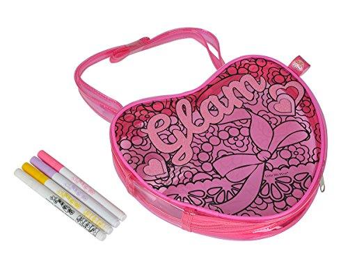 Simba 106377809 - Color Me Mine Diamond Party Sunshine Heartbag 19 x 25 cm