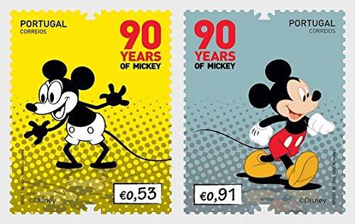 LaVecchiaScatola 2018 Portogallo 90° Anniversario di Mickey Mouse Disney MNH