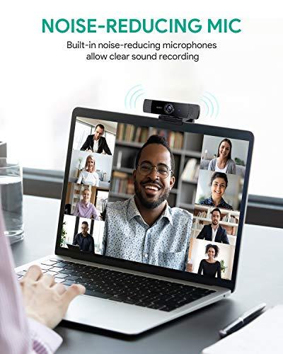 AUKEY-Webcam-1080P-Full-HD-con-Micrfono-Estreo-Cmara-Web-para-Video-Chat-y-Grabacin-Compatible-con-Windows-Mac-y-Android-negro