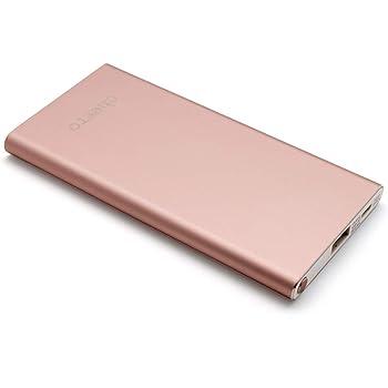 cheero Slim 5000mAh (ローズゴールド) 薄型モバイルバッテリー【PSE取得済】Auto-IC機能搭載 急速充電対応 アルミボディー CHE-104-RG