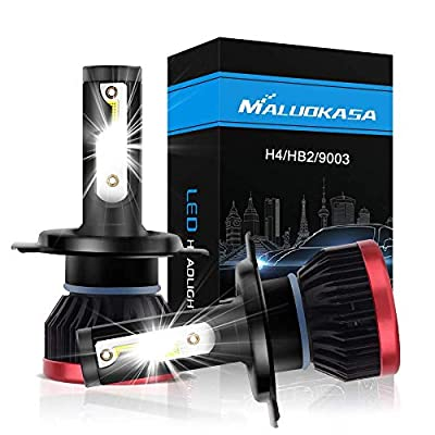 MALUOKASA H11 H8 H9 Led Headlight Bulb All In One Conversion Kit 10000LM 6500K 50W DOB Chip Cool White DOT Approved - 1 Year Warranty