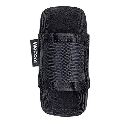 Weltool FH3 Funda para Linterna de nylon, funda linterna tactica negro, Ajustable Flashlight Bolsa Funda Bag, con Estructura Semi-cerrada, con cierre de Velcro, Se Adapta a la Mochila de Cinturón