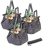 PEARL Einkaufstasche: 3er-Set Einkaufswagen-Taschen