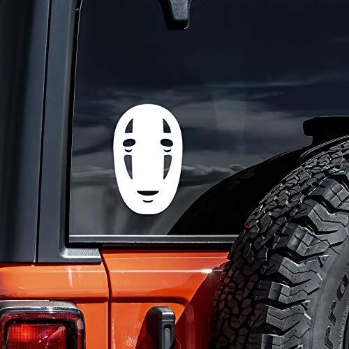 No face Spirited Away Car Decal Sticker (cars, laptops, windows) WHITE