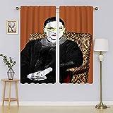 lacencn R.B.G Ruth Bader Ginsburg - Cortinas aisladas para ventanas (63 x 63 cm)