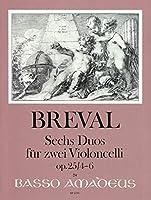 BREVAL - Duos (6) Op.25 Vol.2: nコ 4 a 6 para 2 Violoncellos (Morgan)