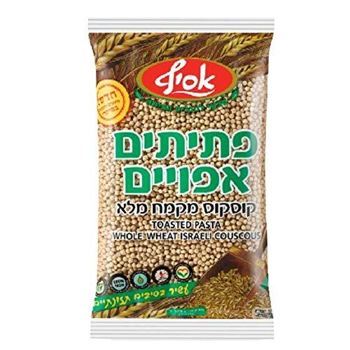 Israelischer Vollcouscous 500 gr - hergestellt aus 100% Vollkornmehl mit nussigem Geschmack - israelischer Riesencouscous mit Nussgeschmack - vegan & Koscher (1 Packung)