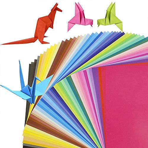 Origami-Papier,Handwerk Faltpapier 100 Blätter 10 x 10 cm Doppelseitige Bastel Papier 10 Farben Hochwertige Faltblätter für Kinder Kunst und DIY Bastelprojekte