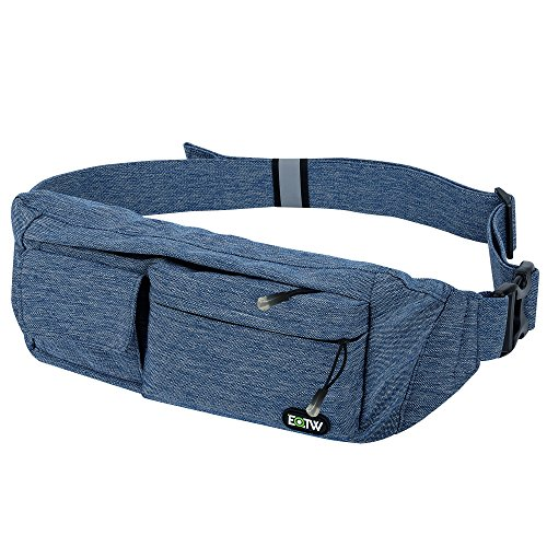 EOTW Waist Pocket Travel Pouch Sports Phone Holder Travel Pocket Fanny Pack Running Belt Waist Pack Money Belt Pocket for iPhone 6 6S Plus 5S, Galaxy S4 S5 S6 S7 Edge, Note 5 4 3, LG G3 G4 G5-Blue
