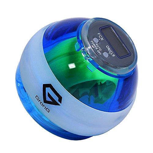 GronG(グロング) スピンボール リストトレーナー デジタルカウンター LED搭載 ブルー