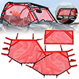 Sresk RZR Shade Nets/UTV Window Net/Roll Cage Mesh Guard for Polaris RZR/ATV Cabs and Roofs (Red)