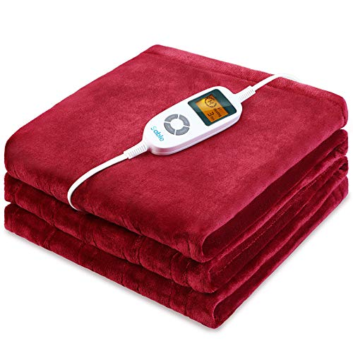 Sable Heated Blankets, Full Size Electric Blanket Throws, Soft Flannel,...