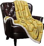 Cloud Dream Home Sherpa Fleece Throw Blanket Hexagonal Pattern Honeycomb Beehive Simplistic Geometrical 40x50 inch Fluffy Plush Warm Blanket All Season Cozy Blanket for Baby Kids Adults Yellow