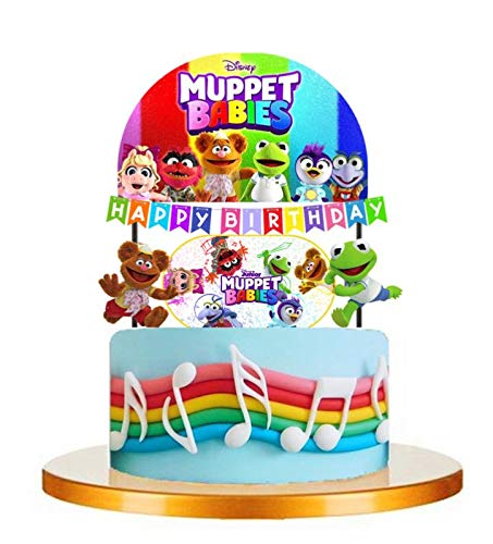 7PC Muppet Babies Kermit Piggy Party Cupcake Topper Cake Toppers Decoration Theme Birthday A2