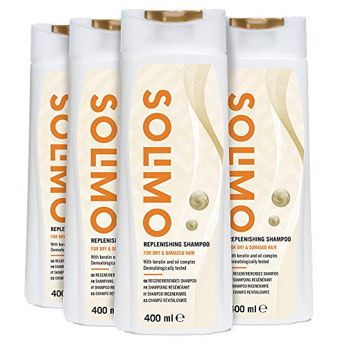 Amazon Brand - Solimo Replenishing Shampoo For Dry & Damaged Hair with...
