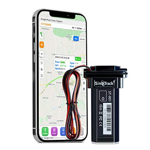 SinoTrack Rastreador GPS para vehículos, Mini Dispositivo de Seguimiento en Tiempo Real para vehículos, Rastreador GPS Impermeable para Motocicletas y vehículos para Camiones