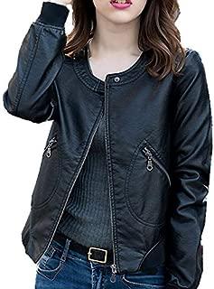BEESCLOVER Plus Size 5XL Autumn Leather Jacket Women Casual Faux PU