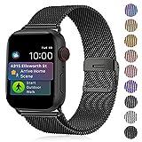 Funbiz Metallo Cinturino Compatible con Apple Watch 38mm 40mm 42mm 44mm, Bracciale di Ricambio Traspirante in Acciaio Inossidabile...