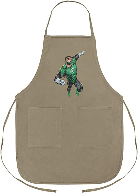 GRAPHICS MORE Green Lantern Character Apron With Pockets