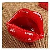 Bandeja de cenizas de cerámica para cigarrillos, mini labios/cigarrillos, para vehículos, para escritorio, para cenizas de regalo de cumpleaños (color : H) YXF99 (color: B)