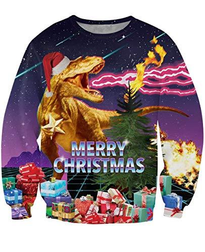 IDGREATIM Mens Fashion Graphic Xmas Santa Claus...