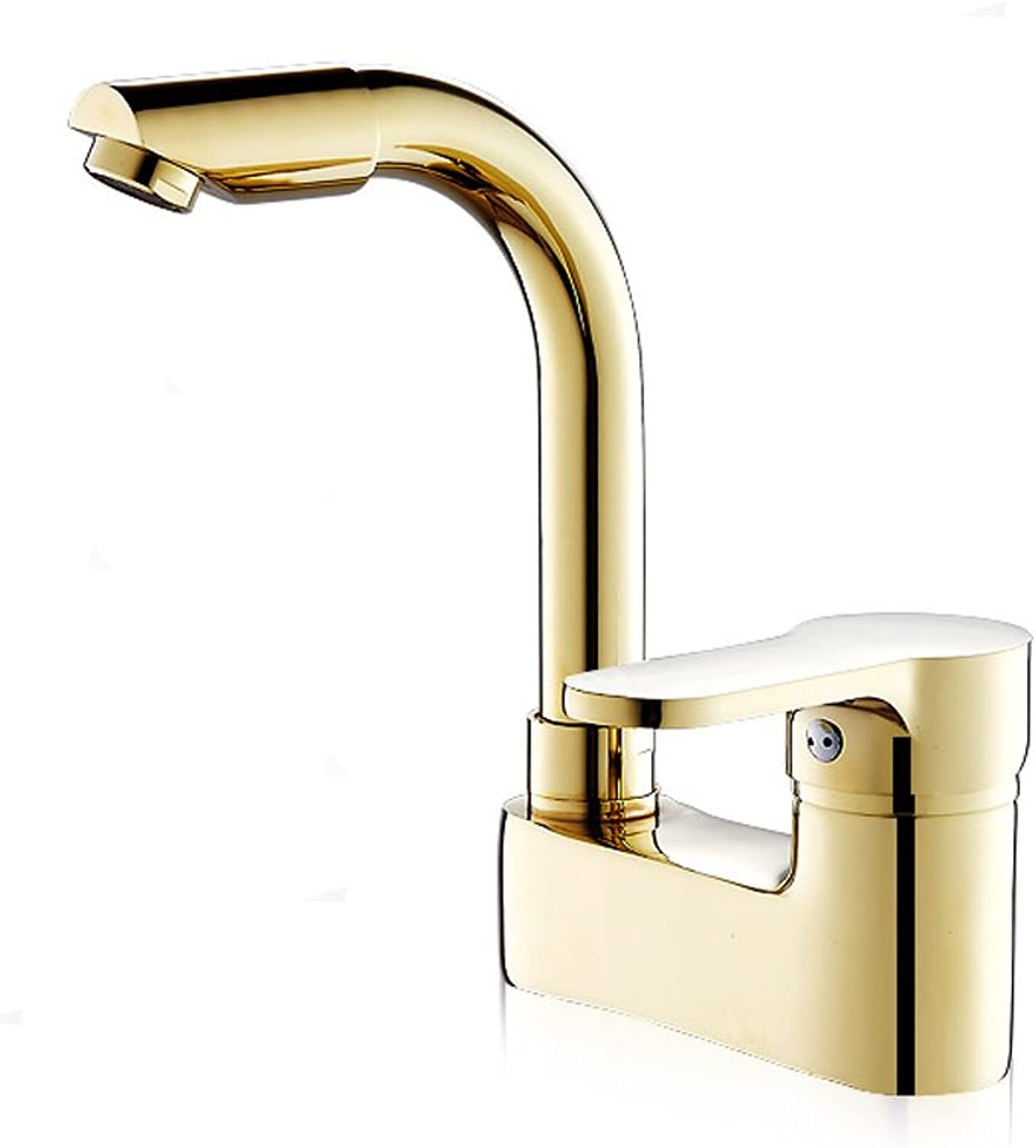 AJZGF European style double basin faucet copper swivel hot and cold faucet