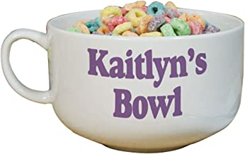 personalized cereal bowl