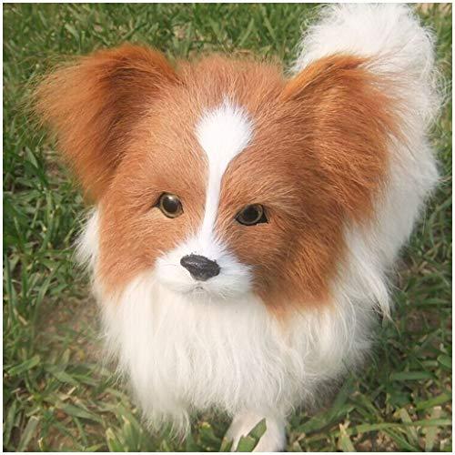 Lifelike Plush Animal Model - Simulazione del modello del cane - Simulazione cane in miniatura Animale giocattolo Collection Figurine - per i bambini il regalo del giocattolo della decorazione casa