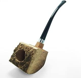 FULUSHOU Tobacco Pipe Mediterranean Briar Wood Block - Semi-Finished Tobacco Pipe -Style 6
