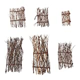 6 uds, valla de piquete de bambú en miniatura de Sushi, bandeja de plato de Sushi japonés, cerca, casa de muñecas, bonsái de Sushi, decoración de micro paisaje