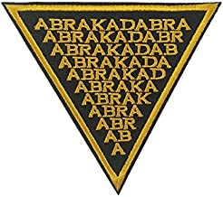 Abracadabra Embroidered Iron on sew on Patch Supernatural Logo Applique