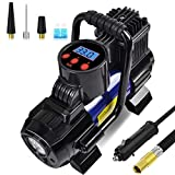 Portable Mini Air Compressor Pump-DC 12V Digital Tire Inflator Tire Pump for Car
