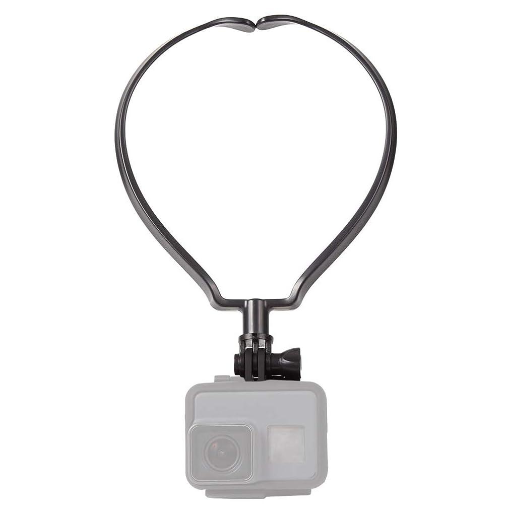 パーティション能力もし【2019進化版】GoPro アクセサリー マウント スマホ ネックレス式マウント アクションカメラ マウント ネックハウジングマウント GoPro HERO7/6/5/4/3/2、SJCAM、APEMANなどに対応 1年保証