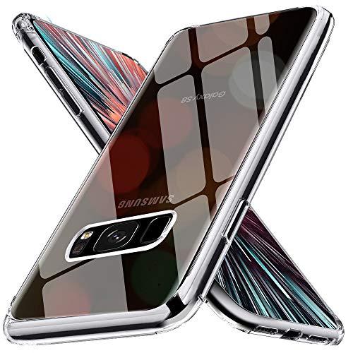Chalpr Crystal Clear Samsung Galaxy S8 Hülle, 360° Full Body HD Transparent Anti-Gelb Hard PC Back & Soft Silikon Handyhülle, Kratzfest Durchsichtige Schutzhülle Hardcase für Samsung Galaxy S8