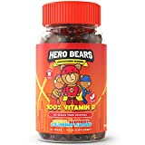 Hero Bears Kids Vitamins, Sugar Free Kids Multivitamin Gummies - 2 Month Supply - Multivitamin for Kids 4yrs+   Vegan   Orange, Raspberry and Blueberry Flavours - 60 Count