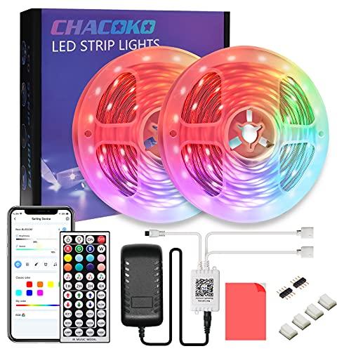 Tira LED 20M, CHACOKO 24V RGB Tiras LED con Mando a Distancia de 44 Teclas, Sincronización de Música, Modo de Temporización, 16 Millones de Colores, Cortable, para Hogar, Fiesta, Dormitorio