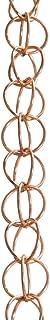 Monarch Ring Rain Chain, 8-1/2-Feet Length, Pure Copper