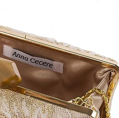 Anna Cecere - Clutch-tasche, Dina beige - ACACA140ORO