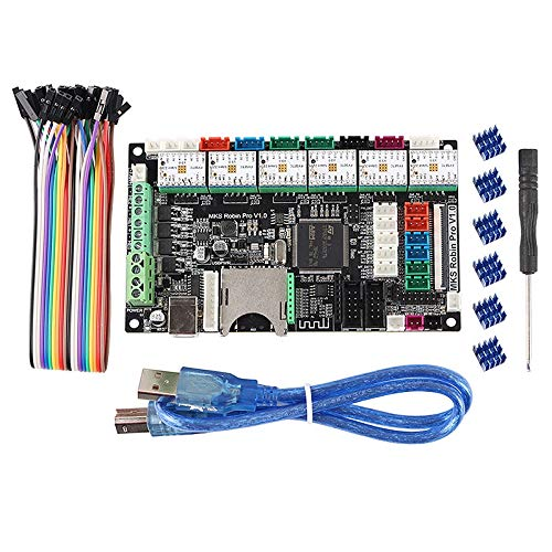 Gaoominy Accesorios de la Impresora 3D Dual Z Axis 3 Cabezal de ImpresióN Placa Base MKS Robin Pro + 6 Piezas TMC2209 Kit de Controlador de Placa Base CombinacióN