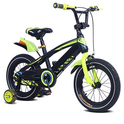 LFFME Bicicleta Infantil 12-18'para Niñas Y Niños De 3 A 12 Años con Ruedas De Entrenamiento, Guardabarros Y Frenos De Mano,D,12