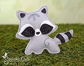 Raccoon Sewing Pattern - Woodland Stuffed Animal Felt Plushie Pattern & Tutorial