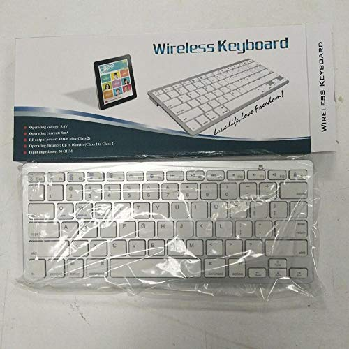LMDZSW Bluetooth Wireless Keyboard For Apple For Ipad 2 3 4 For Mac Computer Pc For Macbook Clavier White