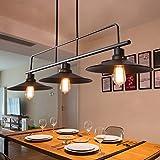 Amos Lámpara de Restaurante de araña de Viento Industrial Retro Lámpara de Mesa de Billar Creative 3 candelabros