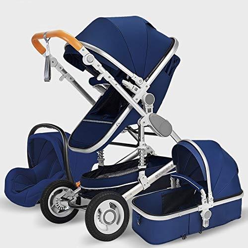 Yankuoo Luxe 3-in-1 Kinderwagen, Baby Reissysteem, Draagbare Opvouwbare Kinderwagen Baby Carrier, Comfortabele Stoel