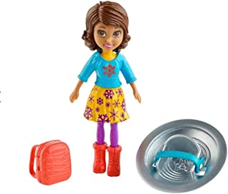 Polly Pocket Shani Travel Doll with Accessories: Suitcase and Stylish Hat