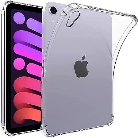 iPad Mini 6用クリアケース(2021モデル、8.3インチ)、耐黄変耐性耐衝撃性耐衝撃性フレキシブル透明ウルトラスリム透明ソフトTPUバックカバースキン(iPad Mini 6用エアクッション付き)
