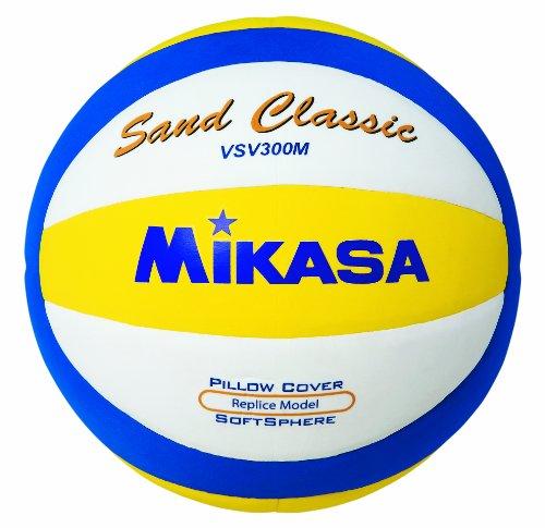 Mikasa Beachvolleyball Sand Classic Vsv300m, blau/gelb/weiß, 1618