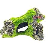 N\O Decoración de animales de resina para acuario, adorno de musgo, decoración para el hogar, raíces de algodón artificiales, accesorios de paisajismo