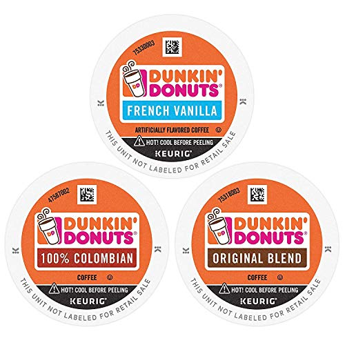 Dunkin' Donuts Coffee, Best Sellers Variety Pack, K Cup Pods for Keurig Coffee Makers, 60 Count